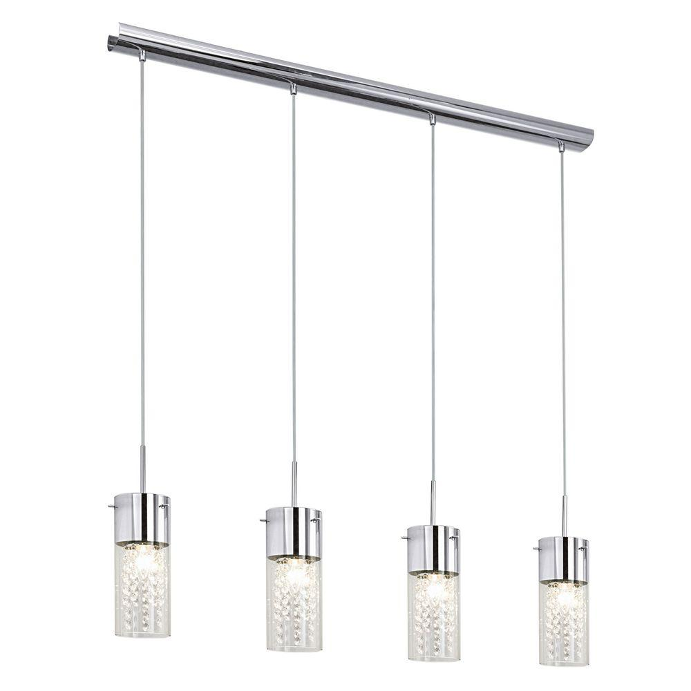 multi pendant lighting home depot. eglo diamond 4-light chrome multi-light pendant with crystal accents-90696a - the home depot multi lighting g