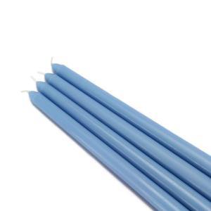 Click here to buy Zest Candle 12 inch Light Blue Taper Candles (12-Set) by Zest Candle.