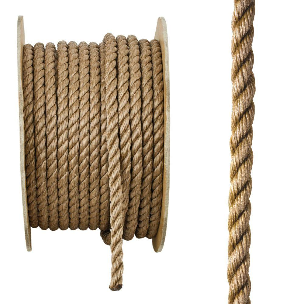 Everbilt 5/8 in. x 200 ft. Brown Twisted Polypropylene Rope
