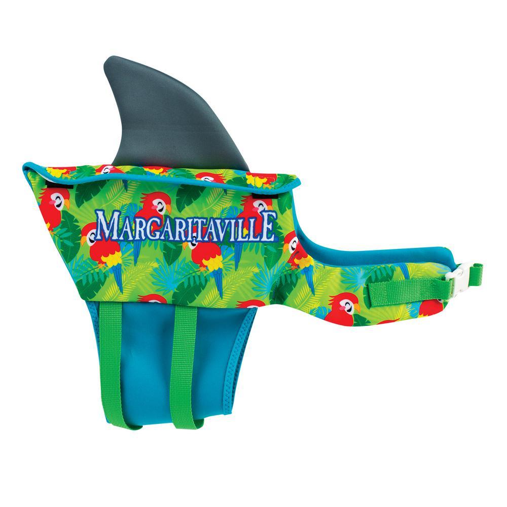 Green Small Dog Life Vest Swim Gear