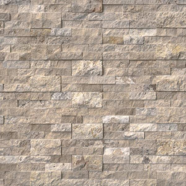 Philadelphia Ledger Panel 6 in. x 24 in. Natural Travertine Wall Tile (10 cases /60 sq. ft. / Pallet)