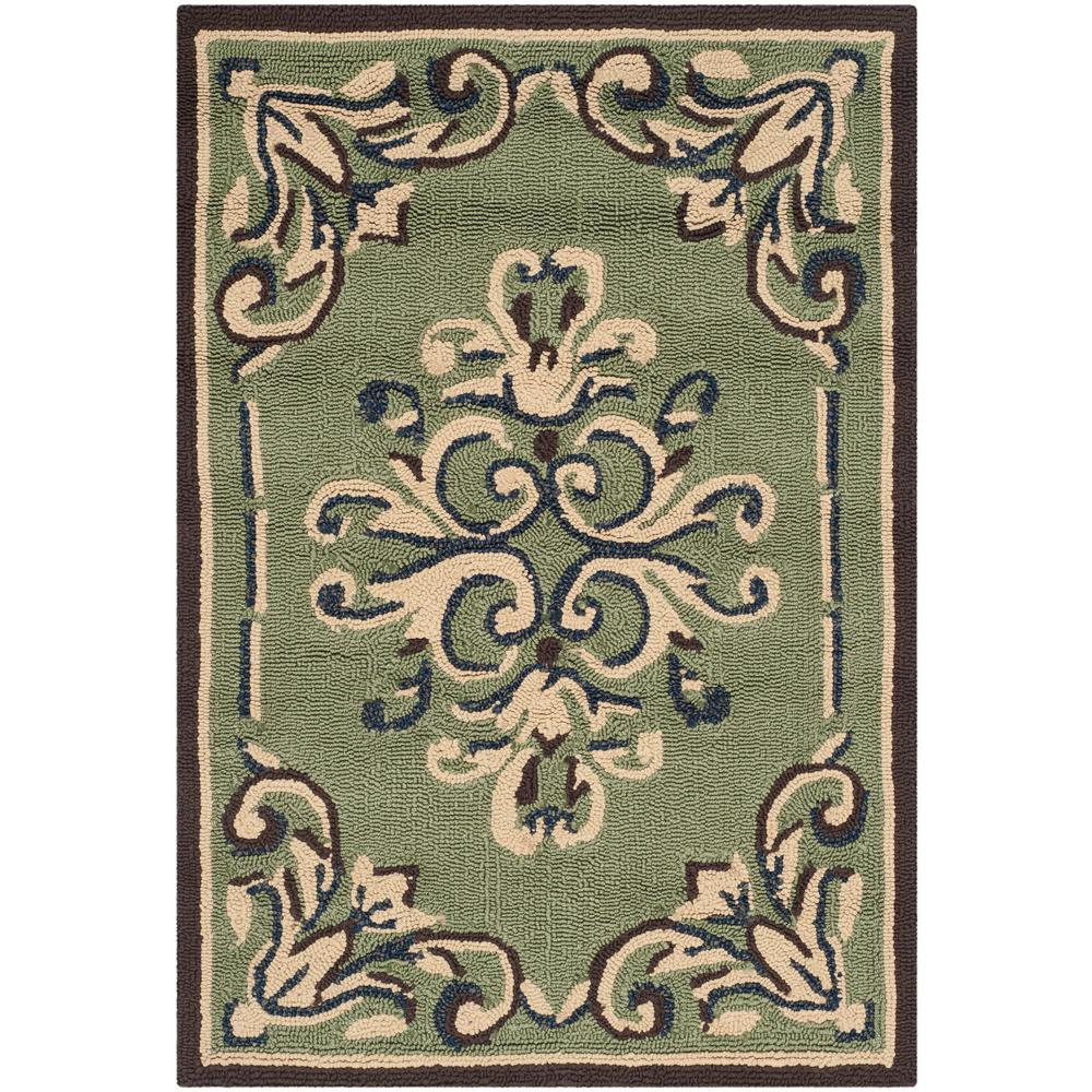 Easy Care Sage/Multi 3 ft. x 5 ft. Area Rug