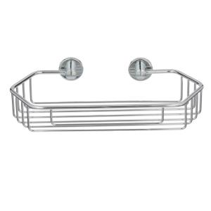 No Drilling Required Draad Rustproof Solid Brass Shower Caddy 11 inch Single Shelf Angled... by No Drilling Required