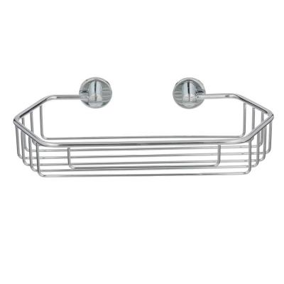 Draad Rustproof Solid Brass Shower Caddy 11 in. Single Shelf Angled in Chrome