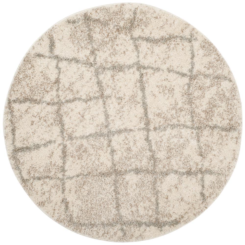 Safavieh Berber Shag Cream/Light Gray (Ivory/Light Gray) ...