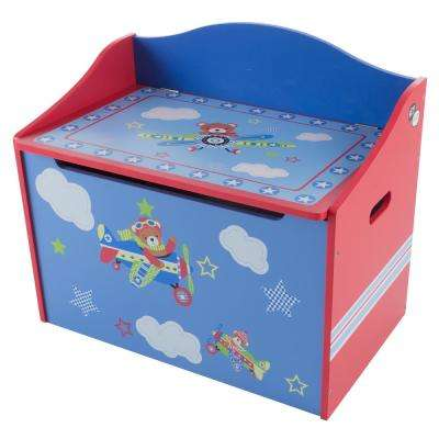 Blue Kids Bench Seat Storage Bench