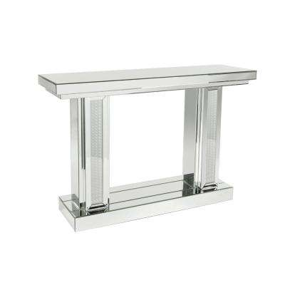 Silver-Mirrored Console with LED