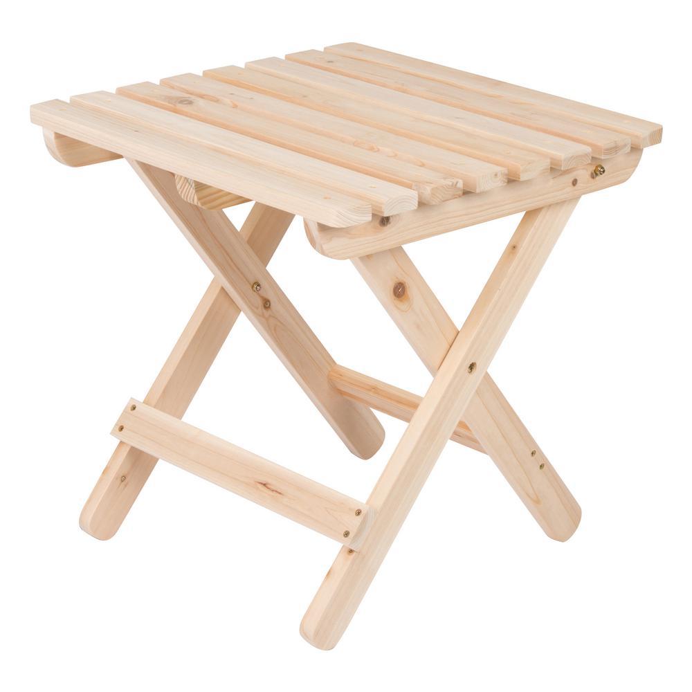 Adirondack Natural Square Wood Folding Table