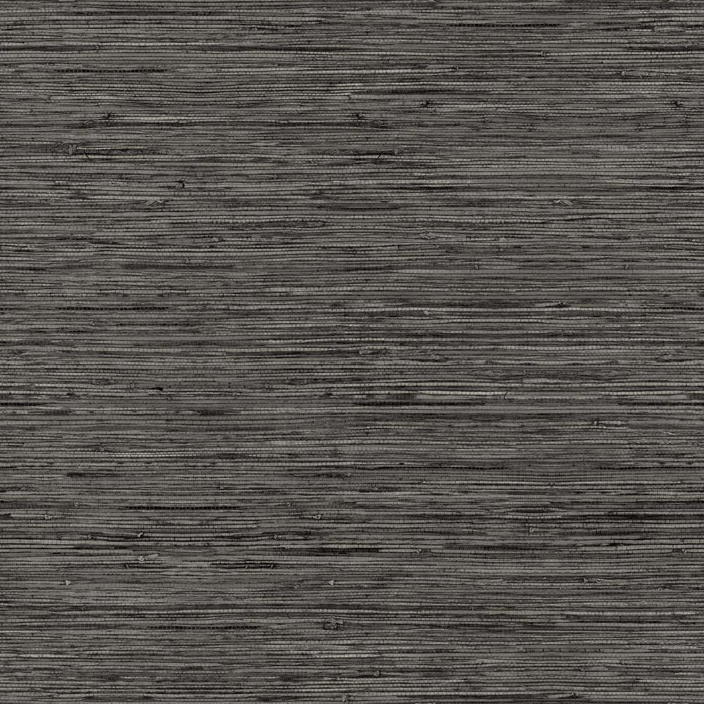 RoomMates 28.18 sq. ft. Grasscloth Grey Peel and Stick Wallpaper
