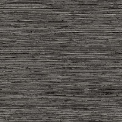 28.18 sq. ft. Grasscloth Grey Peel and Stick Wallpaper