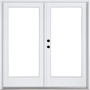 Mp doors 72 in x 80 in fiberglass smooth white right for Interior swinging doors home depot
