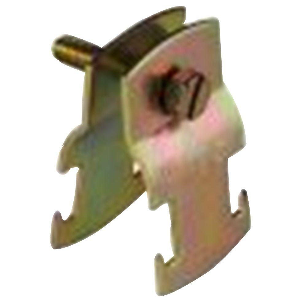 1-1/4 in. Universal Pipe Clamp - Gold Galvanized