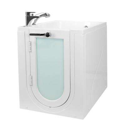 Front Entry 32 in. Acrylic Walk-In Micro Bubble Air Bathtub in White, LH Outward Swing Door Fast Fill Faucet,2 in. Drain