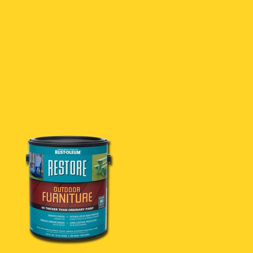1- gal. Sun Yellow Outdoor FurnitureExterior Solid Stain