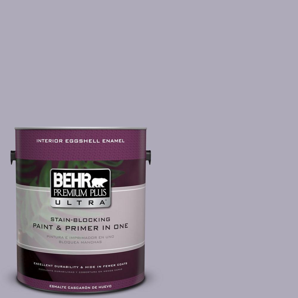 BEHR Premium Plus Ultra 1-gal. #ICC-98 Lilac Bloom Eggshell Enamel Interior Paint