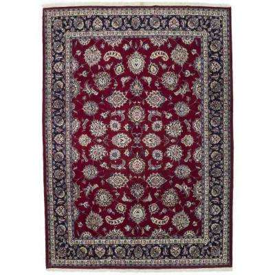 Kashan Red 8 ft. x 11 ft. Area Rug