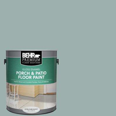 Behr Premium 1 Gal N430 3 Garden Vista Gloss Enamel Interior Exterior Porch And Patio Floor Paint 670501 The Home Depot