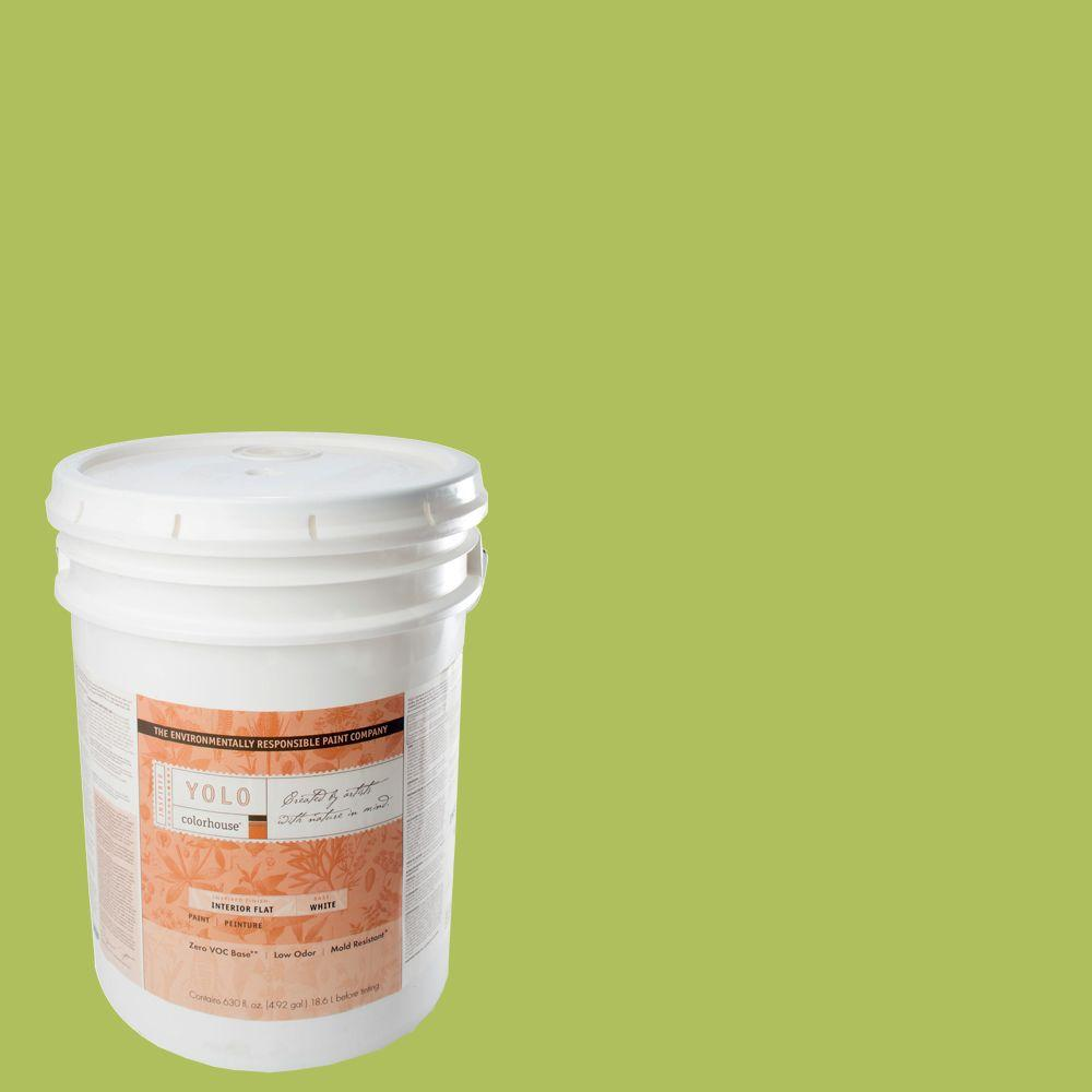 YOLO Colorhouse 5-gal. Thrive .03 Flat Interior Paint-DISCONTINUED