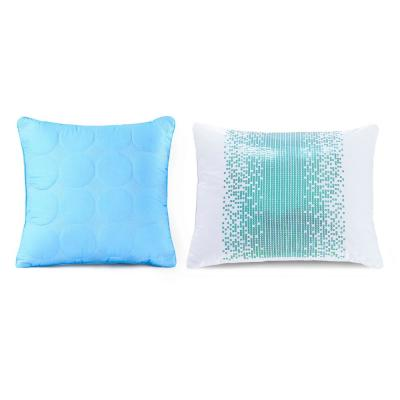 Sundial Blue Geometric Polyester 20 in. x 20 in. Throw Pillow (Set of 2)