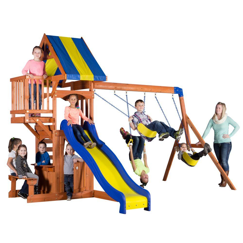 backyard discovery peninsula all cedar playset 65415com the home