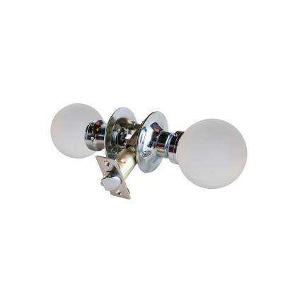 Moon Crystal Chrome Passive Door Knob with LED Mixing Lighting Touch Activated