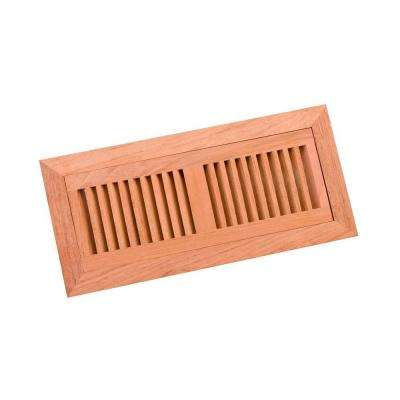 4 in. x 12 in. Wood Brazilian Cherry Unfinished Flush Mount Vent Register