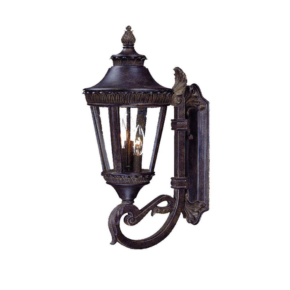 Acclaim Lighting Seville Collection Wall-Mount 3-Light Outdoor Black Coral Light Fixture