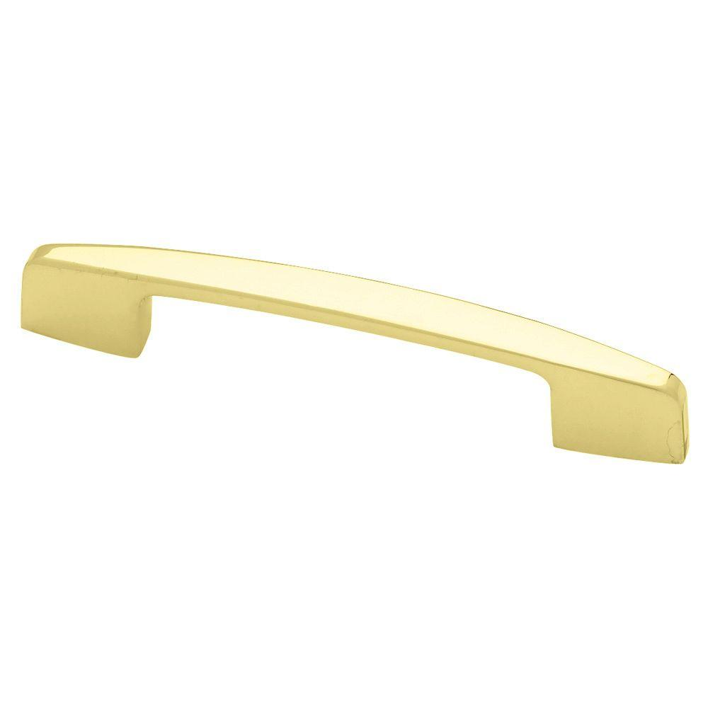 liberty newton 2 3 4 or 3 in 70 or 76mm center to center polished rh homedepot com 3 polished brass cabinet pulls polished brass cabinet pull handle