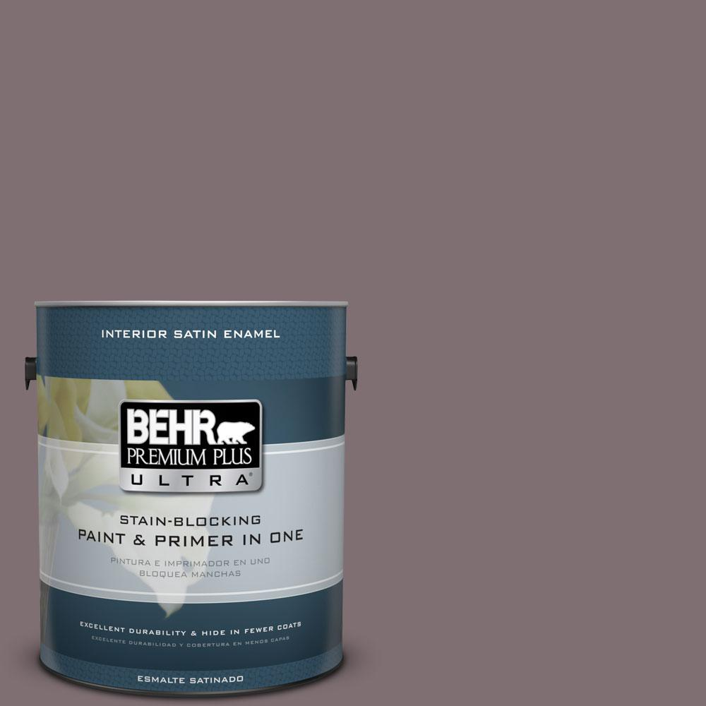 BEHR Premium Plus Ultra 1-gal. #N110-5 Royal Raisin Satin Enamel Interior Paint