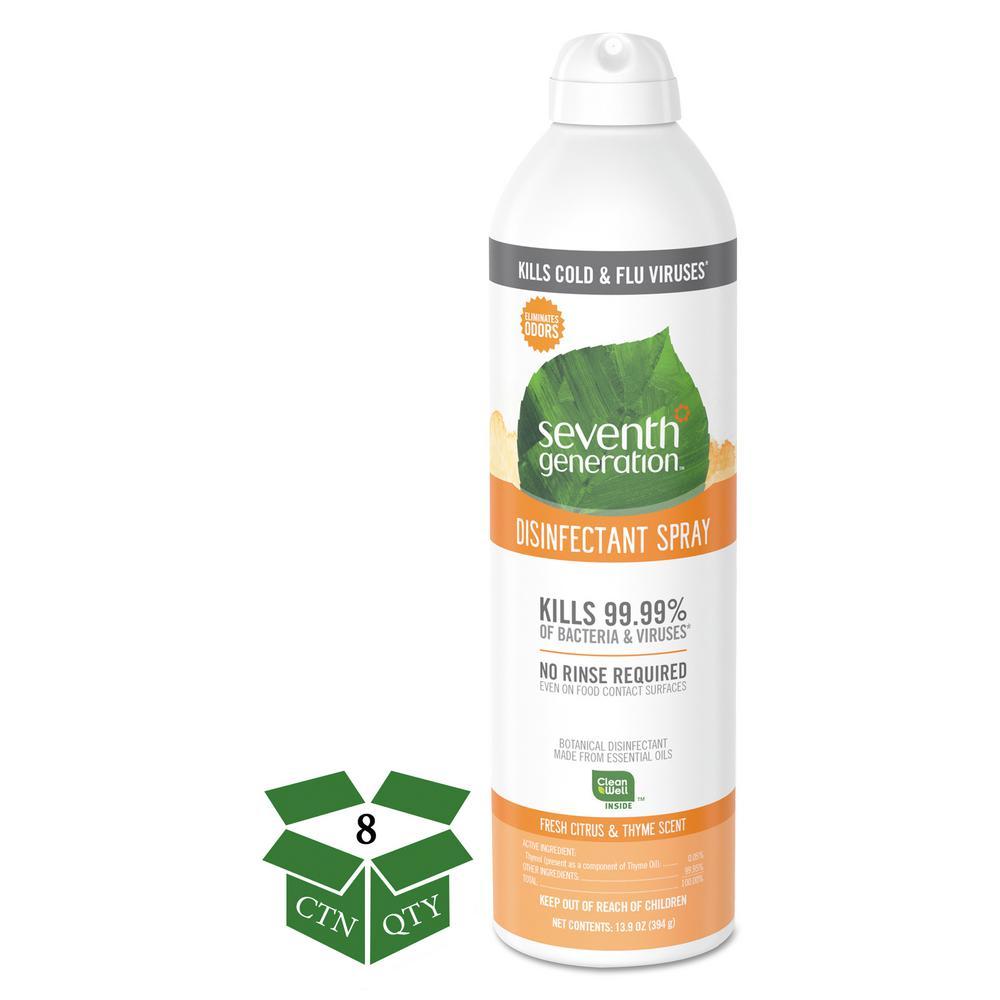 13.9 oz. Fresh Citrus/Thyme Disinfectant Aerosol Sprays Spray Bottle (8-Count)