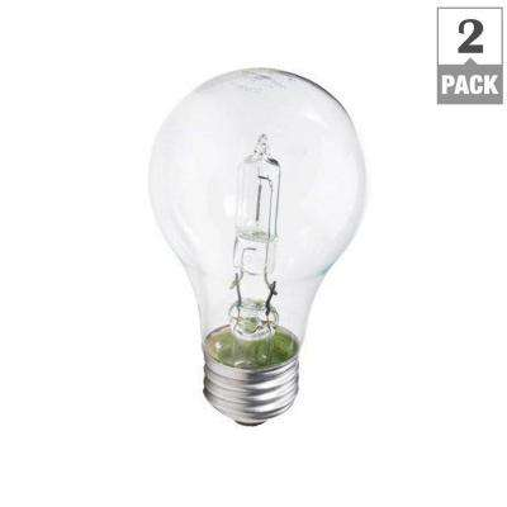 100-Watt Equivalent Incandescent A19 Light Bulb (2-Pack)
