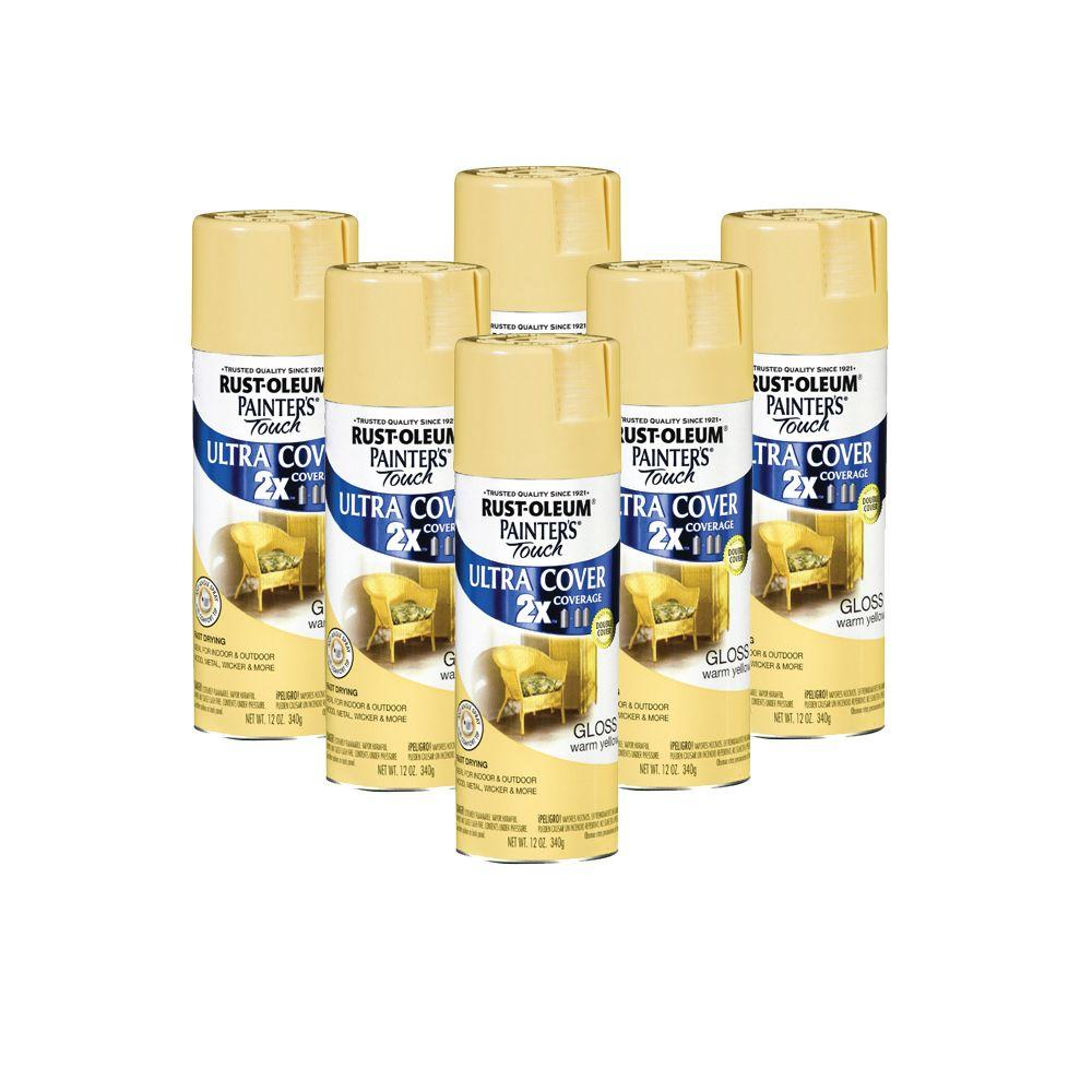 Painter's Touch 12 oz. Warm Yellow Spray Paint (6-Pack)-DISCONTINUED
