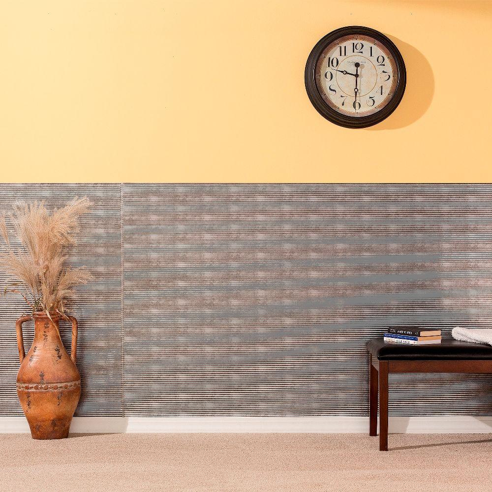 Fasade 96 in. x 48 in. Rib Decorative Wall Panel in Crosshatch ...
