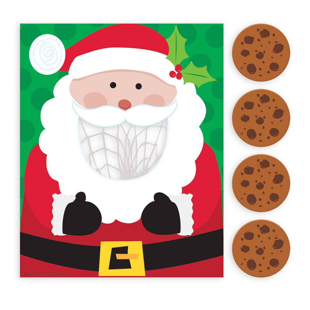 Amscan Santa Cookie Toss Christmas Game 5 Count 2 Pack
