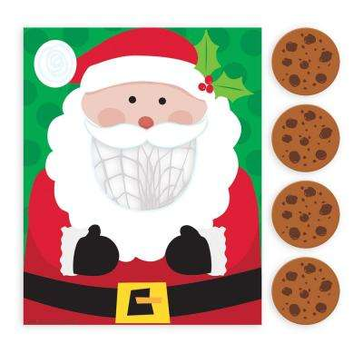 Santa Cookie Toss Christmas Game (5-Count 2-Pack)
