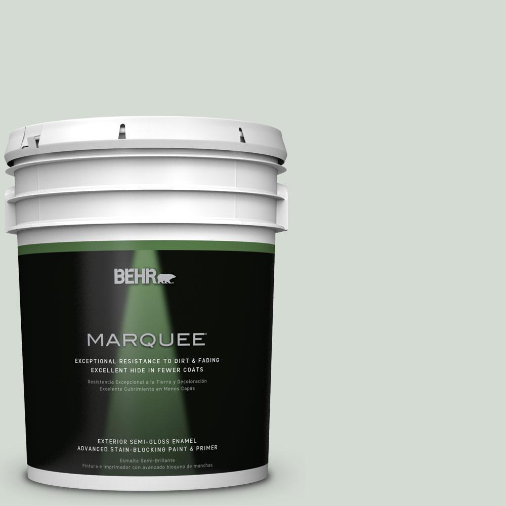 5-gal. #ICC-95 Soothing Celadon Semi-Gloss Enamel Exterior Paint