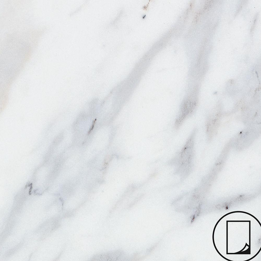Wilsonart 3 in. x 5 in. Laminate Countertop Sample in Calcutta Marble with Premium Textured Gloss