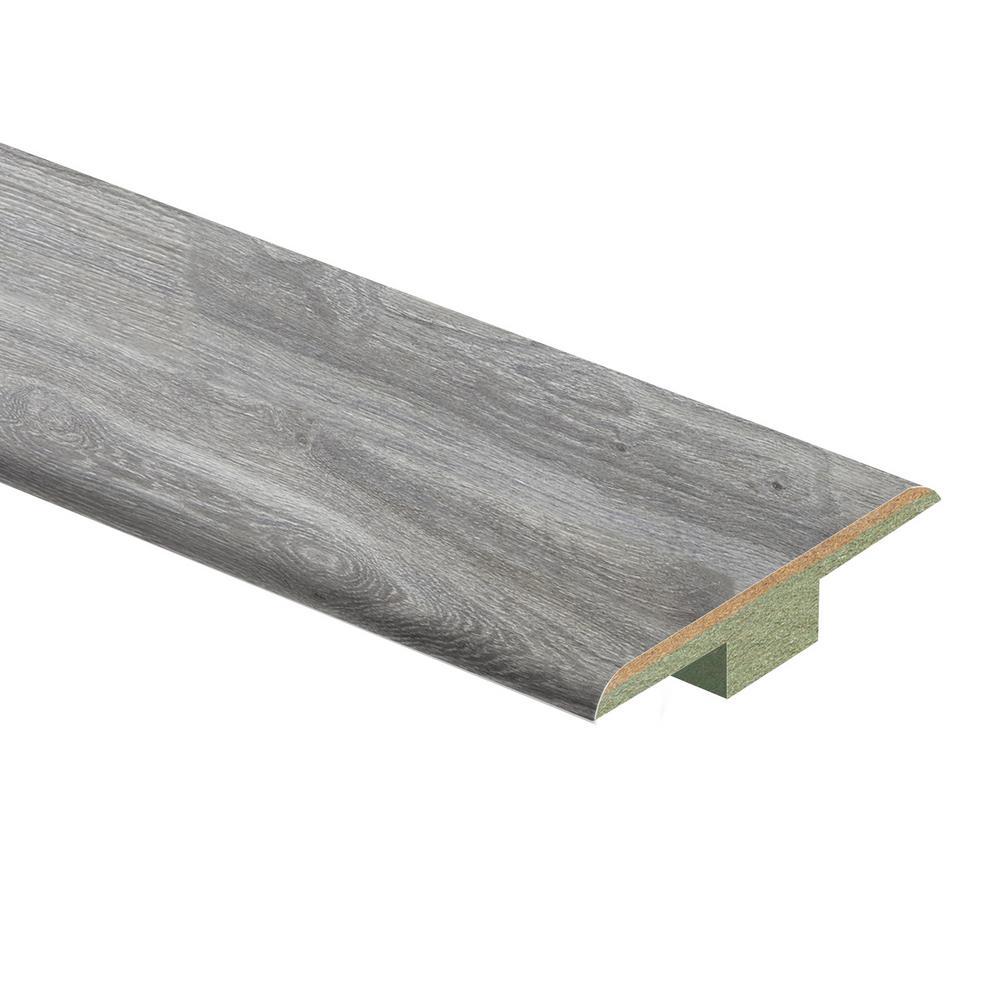Silverton Oak 7/16 in. T x 1-3/4 in. Wide x 72 in. Length Laminate T-Molding