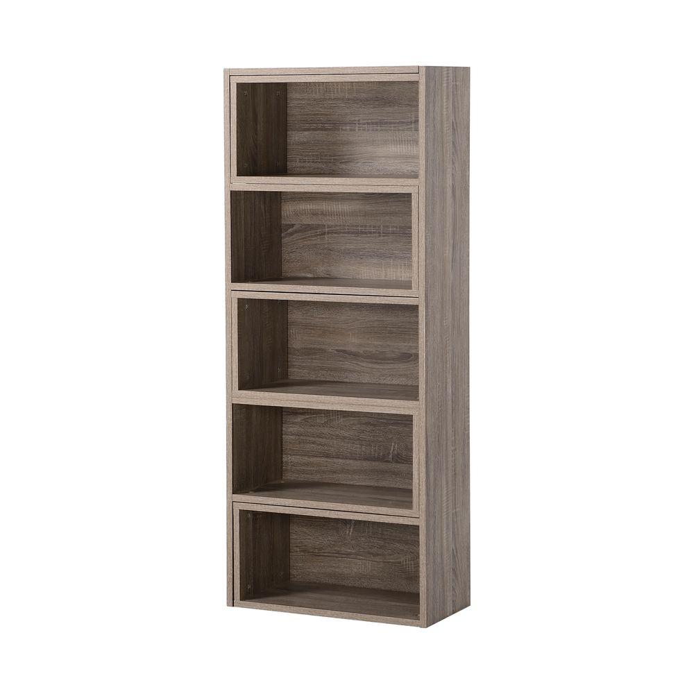 Reclaimed Wood Open Bookcase