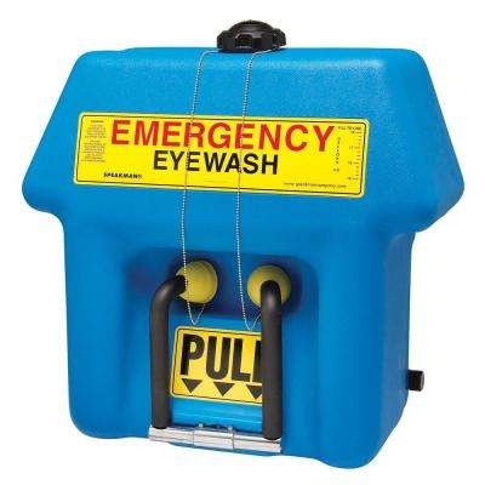 GravityFlo 21 Gal. Portable Emergency Eyewash with Universal Emergency Sign