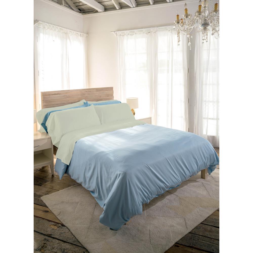 Siesta 4-Piece Sage Cotton Queen Sheet Set