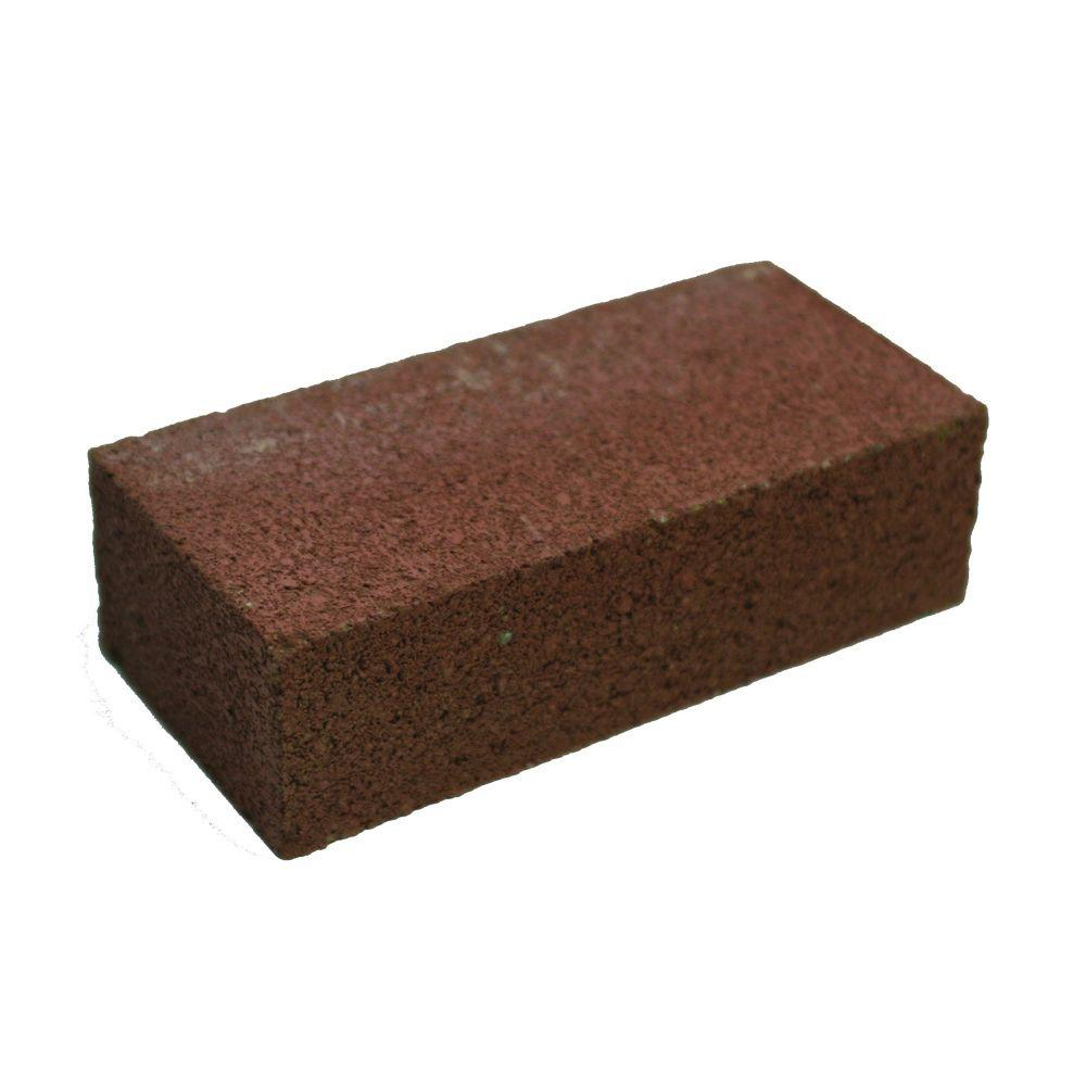 4 in. x 2 in. x 8 in. Red Concrete Brick