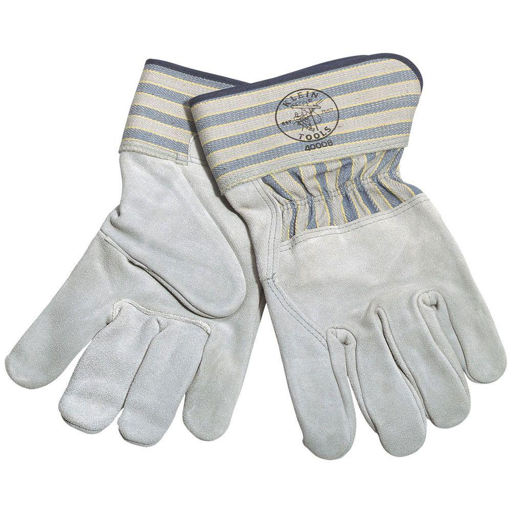 null Sueded Leather Large Medium-Cuff Gloves