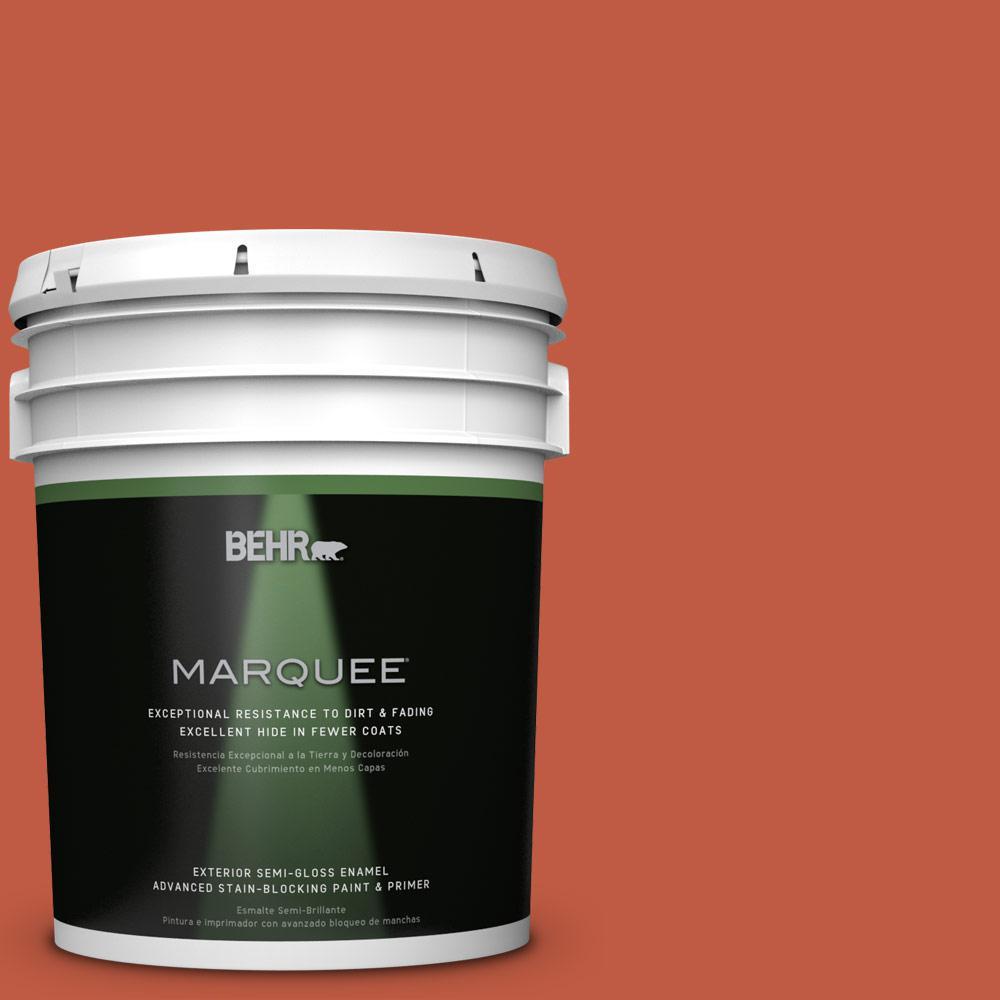 BEHR MARQUEE 5-gal. #M180-7 Deep Fire Semi-Gloss Enamel Exterior Paint