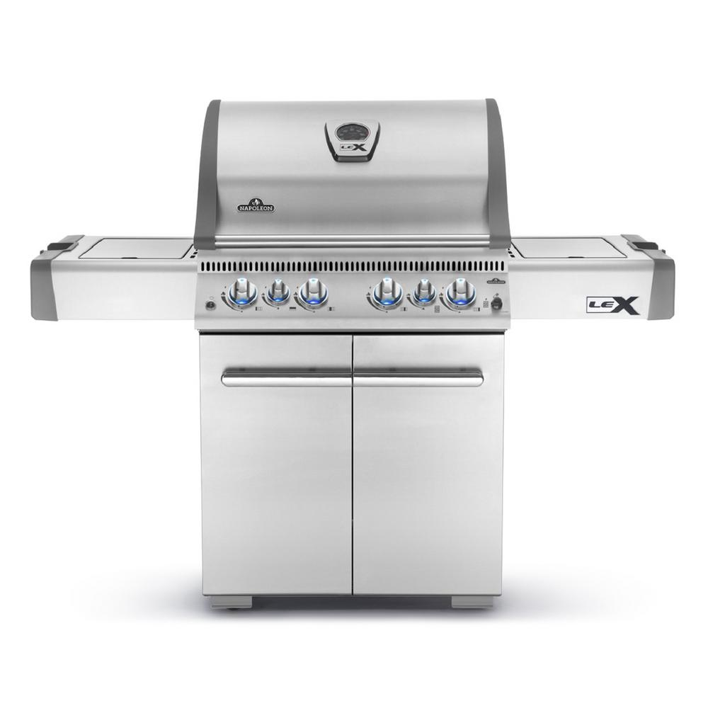 LEX 485 with Infrared Side and Rear Burners Natural Gas Grill