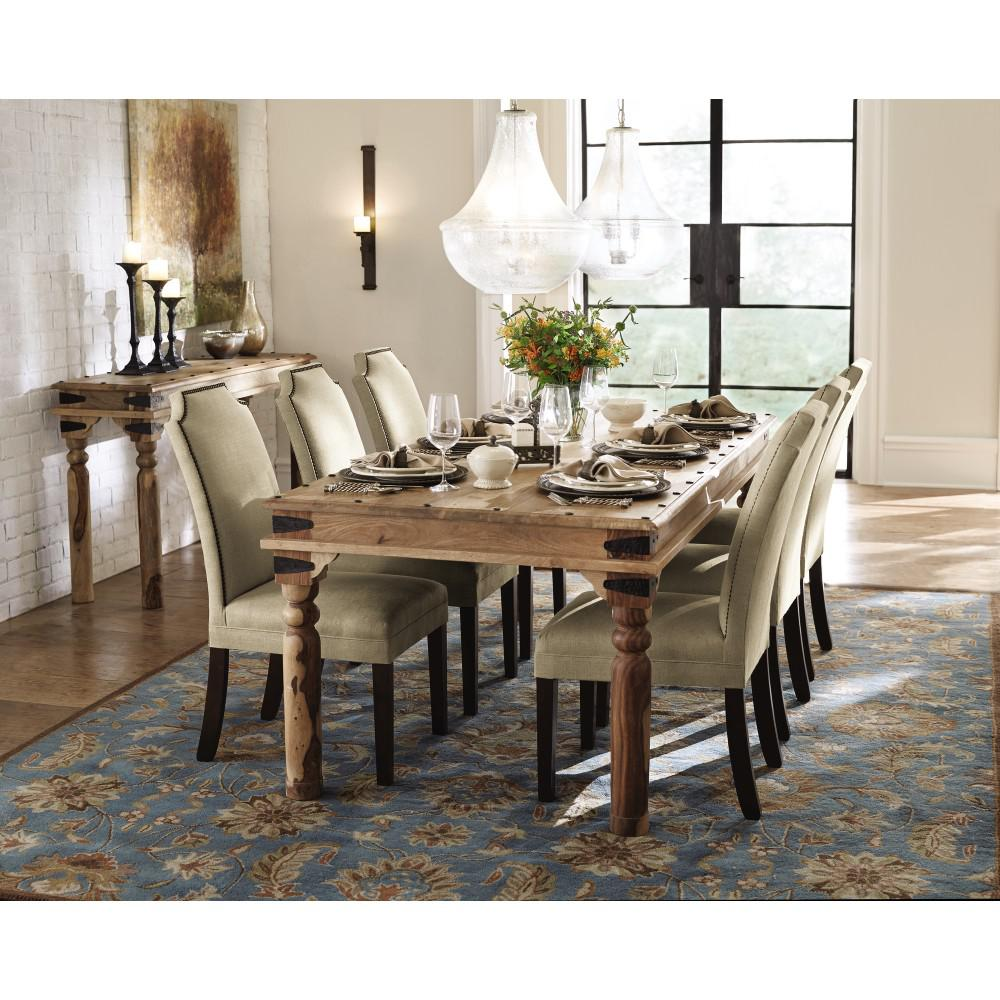Home decorators collection fields weathered brown dining - Dimensions table a manger ...