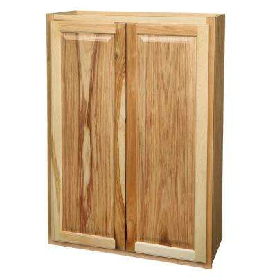 Hampton Assembled 30x42x12 In. Wall Kitchen Cabinet In Natural Hickory
