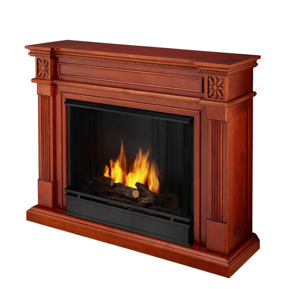 Real Flame Elise 36 in. Gel Fuel Fireplace in Dark Mahogany-DISCONTINUED