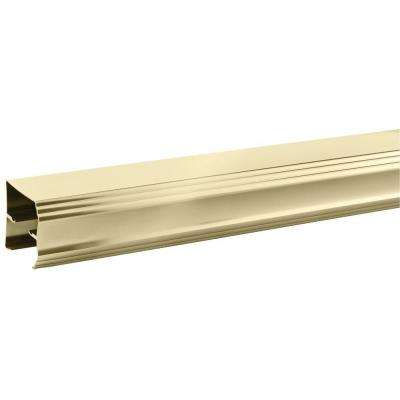 48 in. to 60 in. Semi-Frameless Traditional Sliding Shower Door Track Assembly Kit in Polished Brass