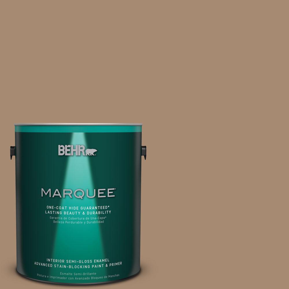 1 gal. #N260-5 Distant Land One-Coat Hide Semi-Gloss Enamel Interior Paint
